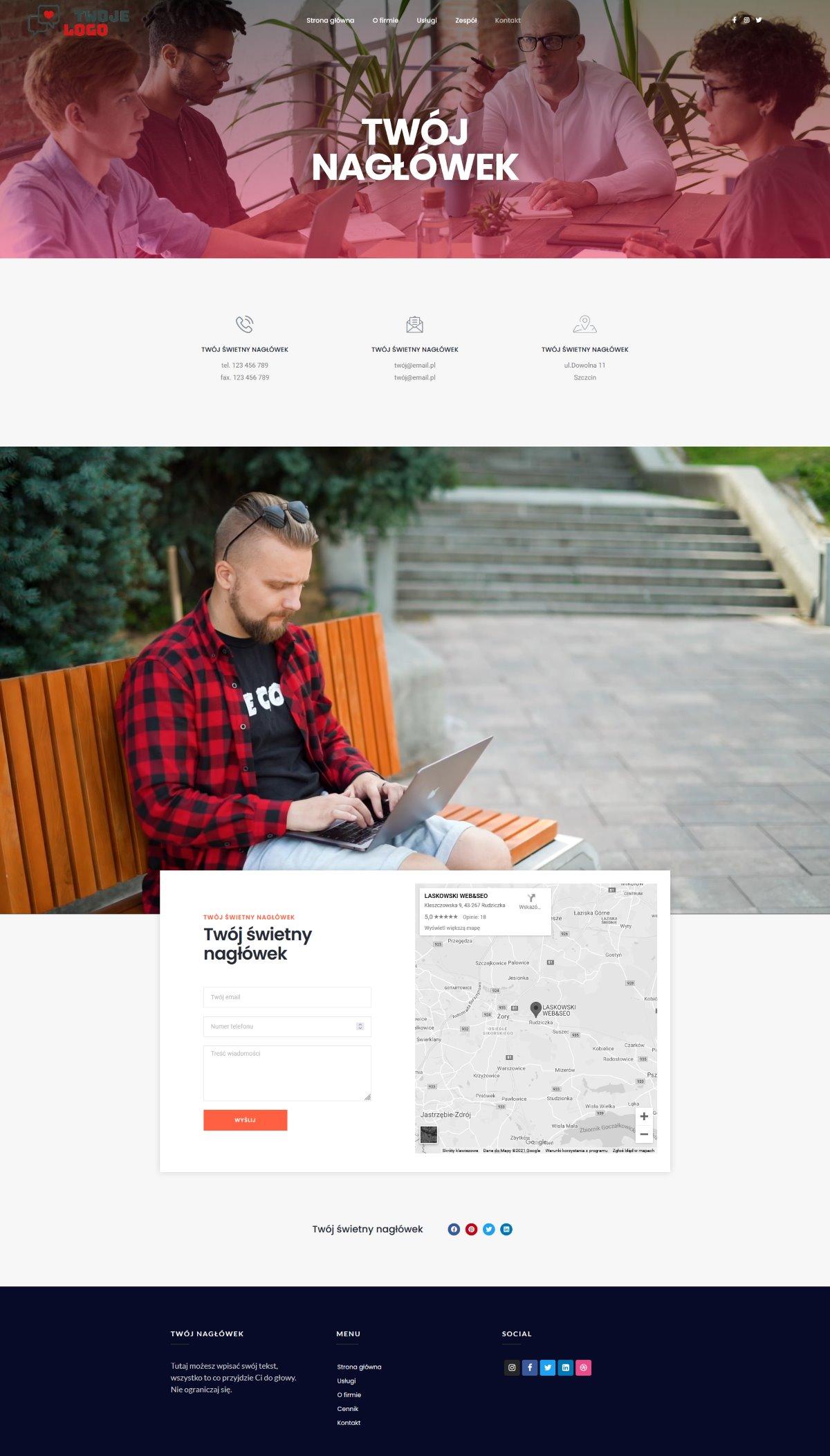 Strona internetowa dla firmy i spółek