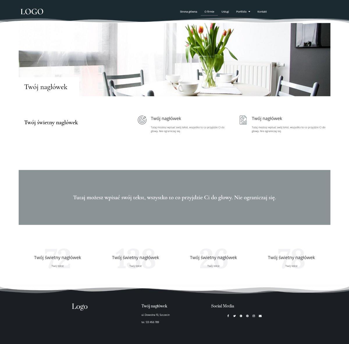 gotowa strona internetowa dla biura projektowego i architektonicznego