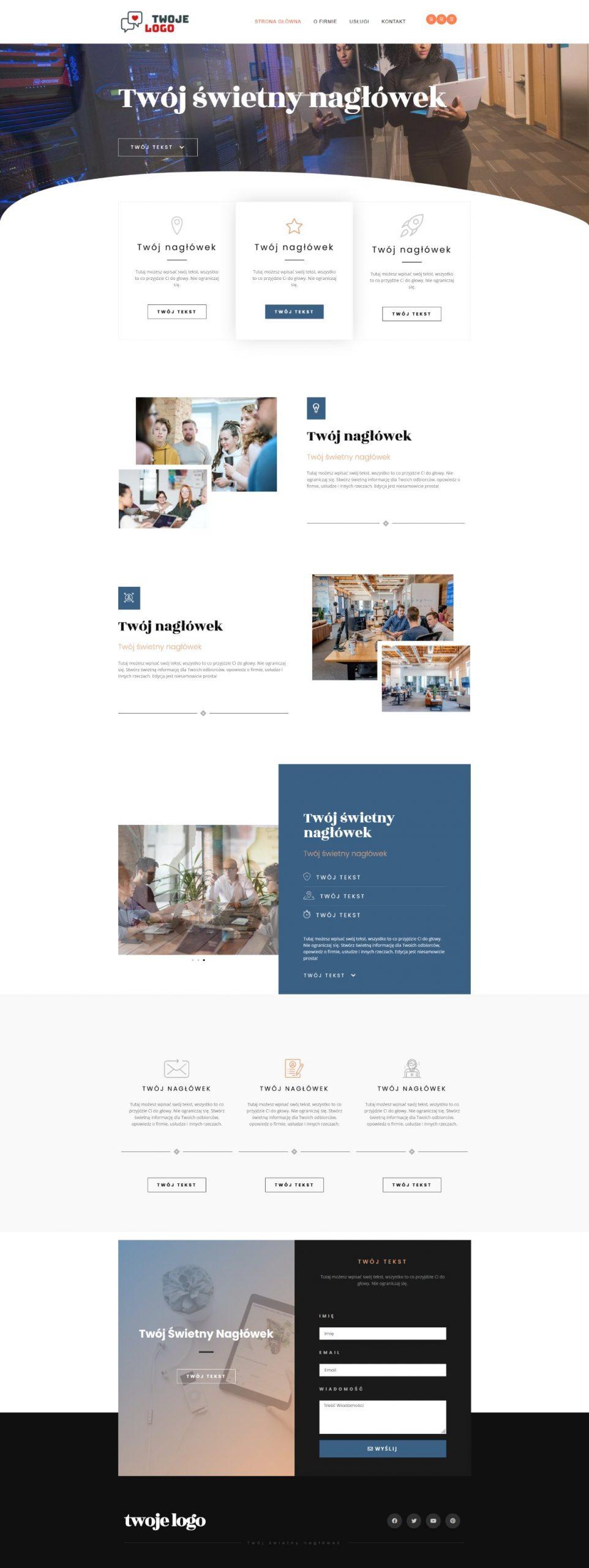 gotowa strona internetowa dla firmy