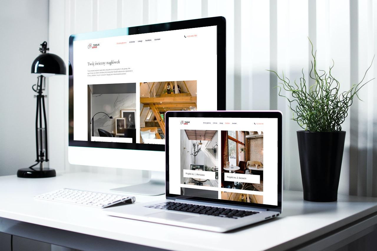 gotowa strona internetowa dla projektantów i architektów