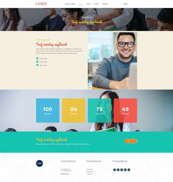 gotowa strona internetowa dla prywatnej szkoły