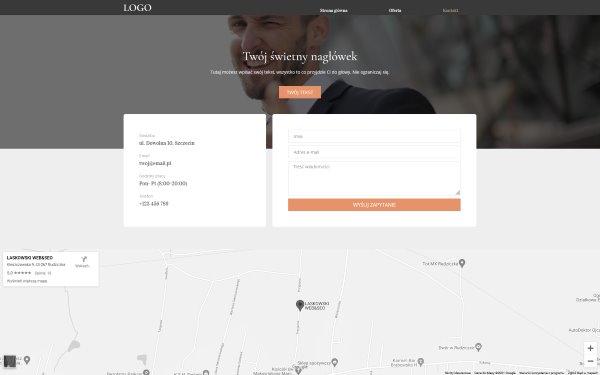 Strona internetowa dla prawnika kontakt