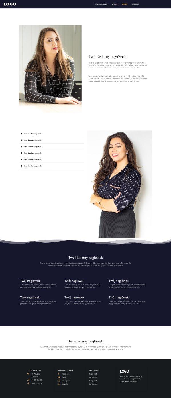 strona internetowa dla notariusza - zakładka usługi