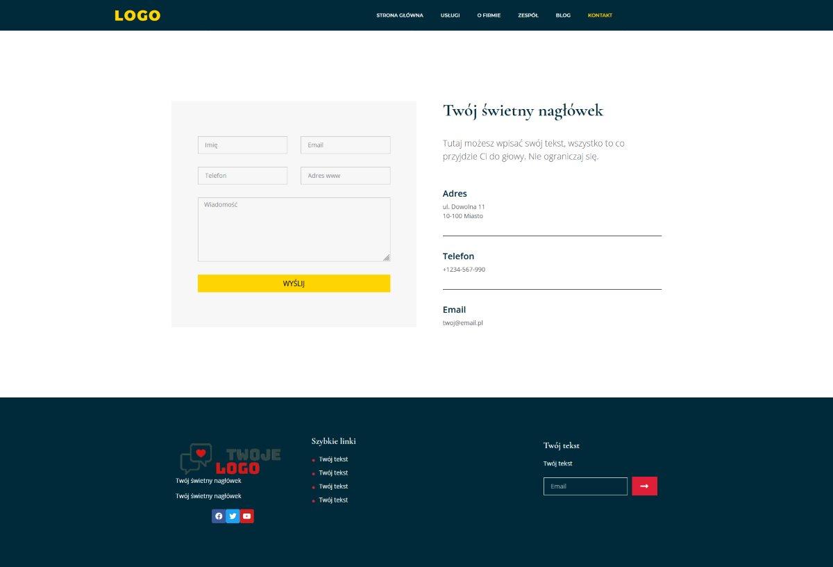gotowa strona internetowa dla firmy - wygląd strony www