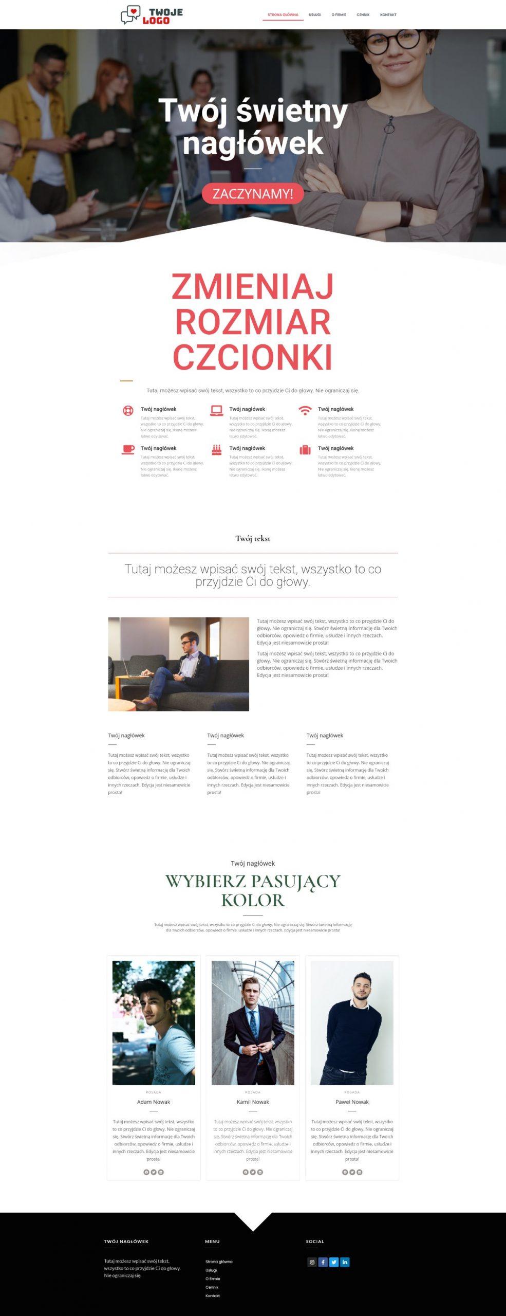 Gotowa strona internetowa dla Twojej firmy w 24h
