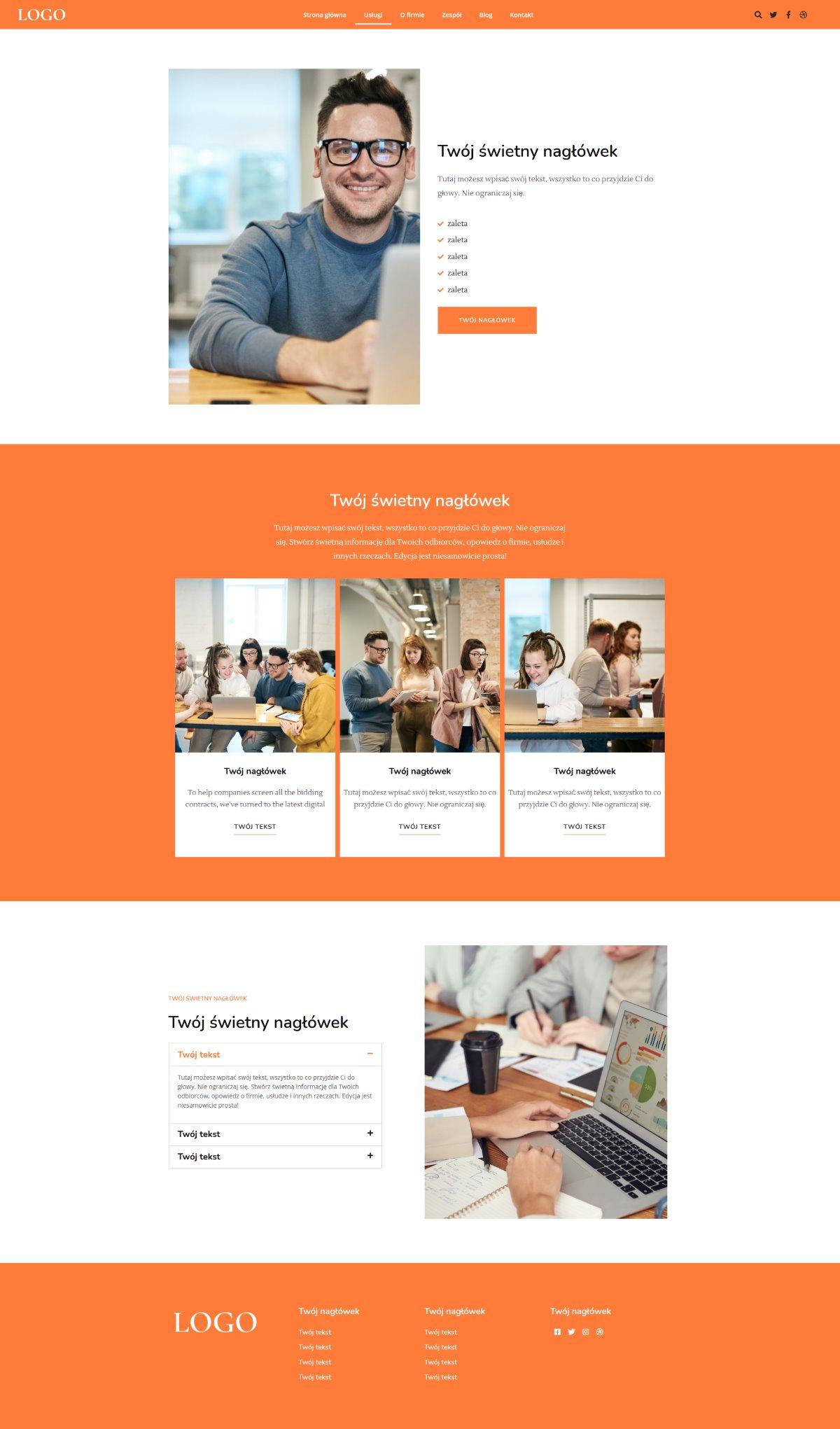 Gotowa strona internetowa dla każdej działalności gospodarczej