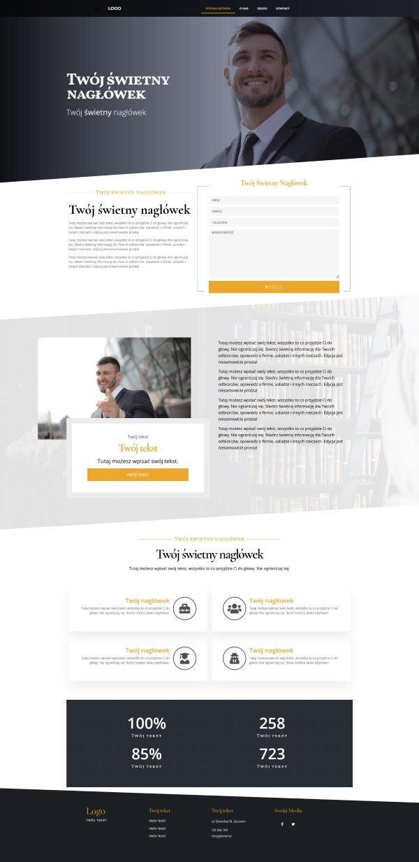strona internetowa dla kancelarii adwokackiej wygląd strony głównej