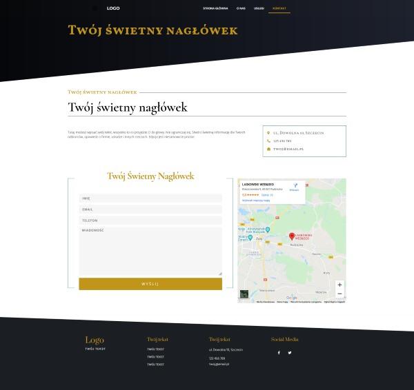strona internetowa dla kancelarii adwokackiej wygląd strony kontakt