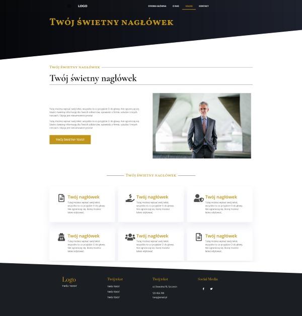 strona internetowa dla kancelarii adwokackiej wygląd strony usługi